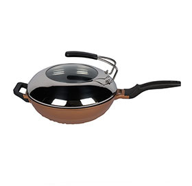 Aluminum Smokeless Wok With C